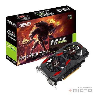 Placa de vídeo PCI-E Asus nVIDIA GTX 1050TI 4 Gb GDDR5 128 Bits