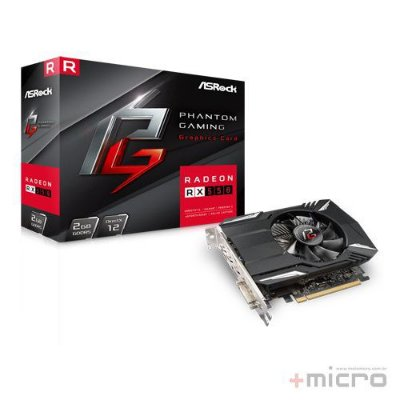 Placa de vídeo PCI-E ASRock AMD Radeon RX 550 2 Gb GDDR5 128 Bits
