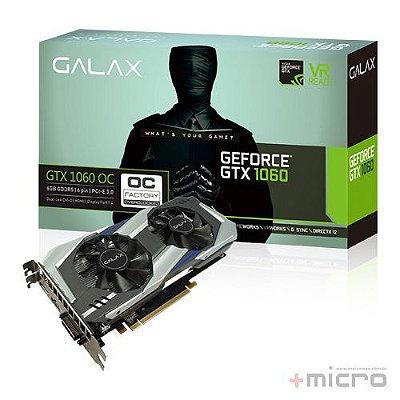 Placa de vídeo PCI-E Galax nVIDIA GTX 1060 6 Gb GDDR5 192 Bits