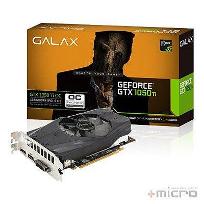 Placa de vídeo PCI-E Galax nVIDIA GTX 1050TI 4 Gb GDDR5 128 Bits