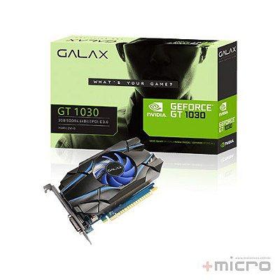 Placa de vídeo PCI-E Galax nVIDIA GT 1030 2 Gb SDDR4 64 Bits
