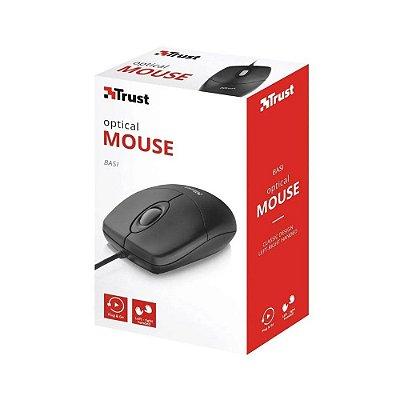 Mouse Optico - Trust - USB preto
