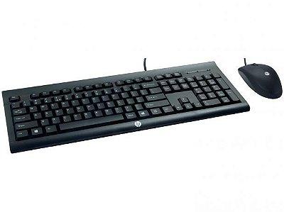 Kit Teclado e Mouse com fio HP C2500