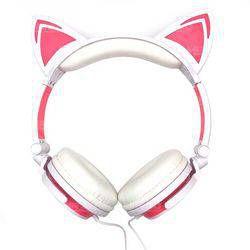 Fone De Ouvido Bluetooth Orelha De Gato Com Led