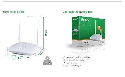 Roteador Wireless Intelbras IWR 3000N 300MBPS, 2 Antenas, 5DBI 4 Portas