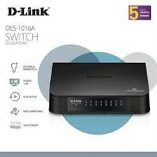 Switch de Escritório 16 portas D-Link DES-1016A