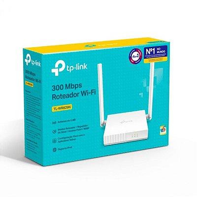 Roteador TP-Link Wireless N 300Mbps 2 Antenas 5DBI IPv6 4 em 1 App Tether QoS Wi-Fi 4 - TL-WR829N V2