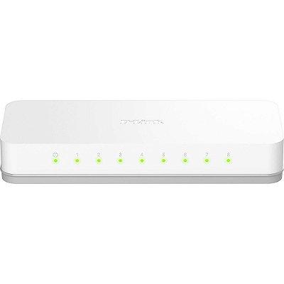 Switch 8 portas - DES-1008C - D-Link