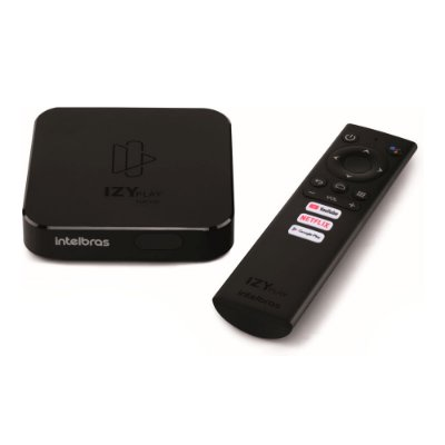 Smart Box - Intelbras - Android TV - Netflix, Youtube e Google Assistente Bivolt