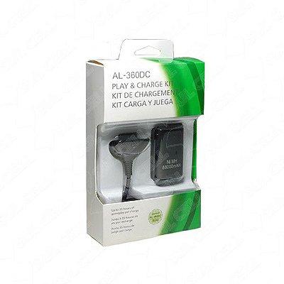 Kit Carregador + Bateria Para Controle X-box Al-360dc