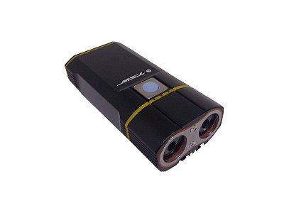 FAROL COM CARREGADOR USB 900 LUMENS PRETO TSW
