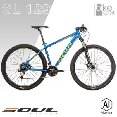 BIC. ALUMINIO SL129 24V AZUL/AMARELO X4