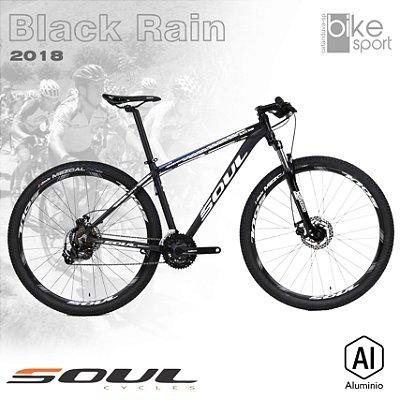 BIC. ALUMINIO BLACK RAIN 29 TOURNEY 21V PRETO/BRANCO/AZUL 2018