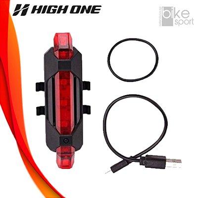 VISTA LIGHT TRAS 5 FUNCOES C/RECARGA USB PTO Ref: HOLUZ0024 Marca: HIGH ONE