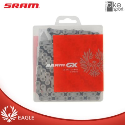CORRENTE SRAM PC-GX EAGLE 126 ELOS PRATA