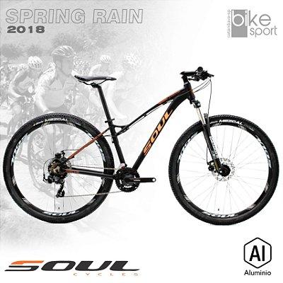BIC. ALUMINIO SPRING RAIN 29 TOURNEY 21V MR PRETO/LARANJA