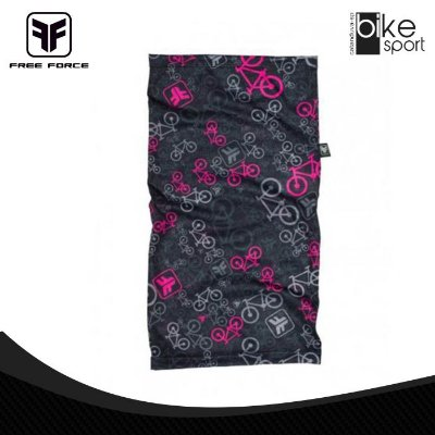 BANDANA BICYCLE - 35-PRETO/ROSA - U