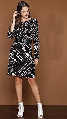 Vestido Estampa Geométrica