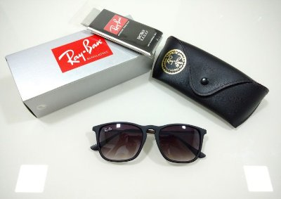 4f92a91dc Óculos de Sol Chris Preto Ray-Ban Fosco Degradê Masculino e Feminino