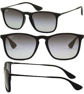 93af0d7bcaedc Óculos de Sol Chris Preto Ray-Ban Fosco Degradê Masculino e Feminino