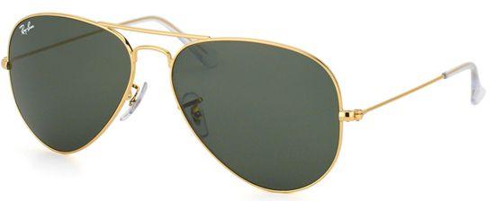 Óculos de Sol Aviador Ray-Ban 3026 Metal Dourado Lente Verde Clássico  Masculino e Feminino a861906210
