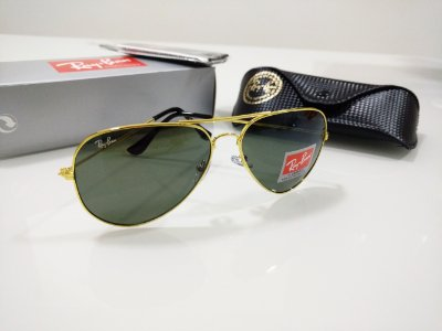 Óculos de Sol Ray Ban Aviador 3026 Verde com Dourado Clássico Feminino e  Masculino 3c368c1344