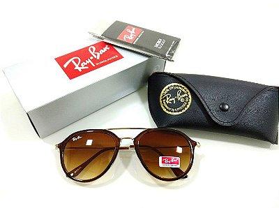 3e4692896 Óculos de Sol Ray-Ban Aviador 3026 Marrom Degradê Acetato Lançamento  Feminino e Masculino