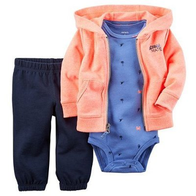 LITTLE MATE LARANJA NEON CONJUNTO