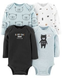 KIT DE BODIES MANGA LONGA BABY BEAR