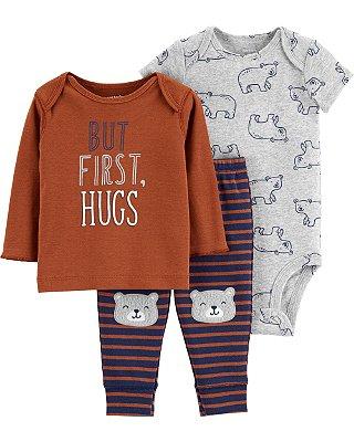 KIT 3 PEÇAS FIRST HUGS