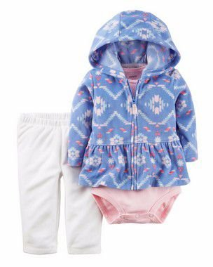 CONJUNTO FLEECE AZUL ESTAMPADO