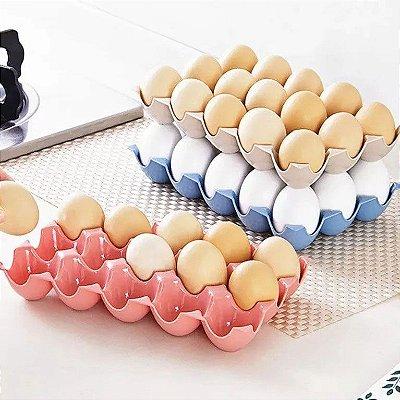 Bandeja para 15 Ovos plástico