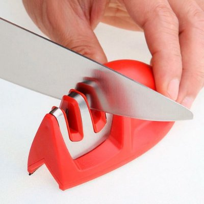 Afiador Amolador de Facas 2 Estágios aço inox