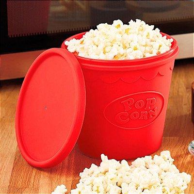 Pipoqueira de Silicone para Microondas Pop Corn Pipoca 2L
