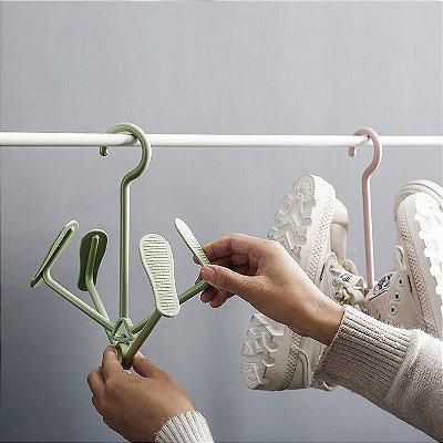Varal para calçados Seque 2 pares de tênis sem deformação