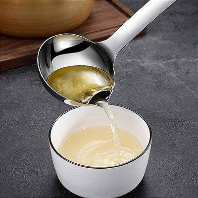 Concha 2 em 1 Aço Inox Separa óleo da sopa