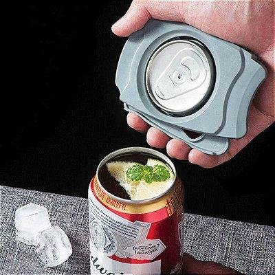 Abridor de Lata Cerveja Refrigerante Transforma lata em Copo