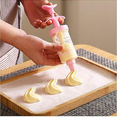 Kit Decorador de Bolo Tortas e Cupcakes - 6 Bicos
