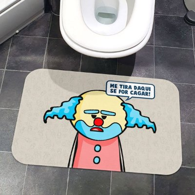 Tapete de Banheiro DrPepper Paiaço Me tira daqui