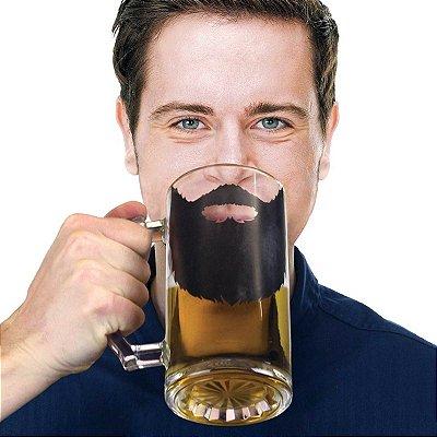 Caneca de vidro Barba Beer'd Stein - 500 ml