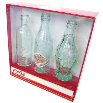 Garrafas Coca-Cola Bottle Evolution - set com 3