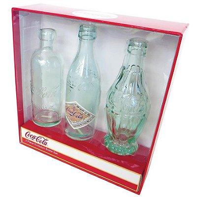 Garrafas Coca-Cola Bottle Evolution - set com 3