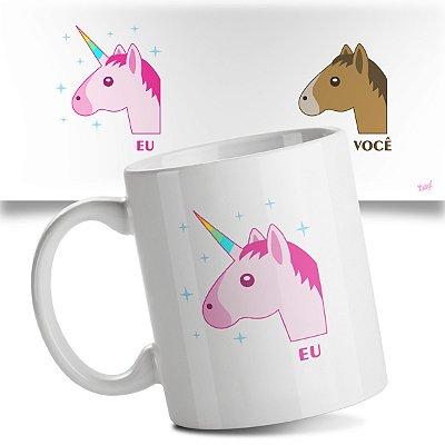 Caneca Eu vs Você - Cavalo vs Unicórnio
