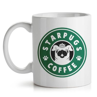 Caneca StarPugs Coffee