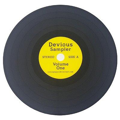Jogo Americano Disco de Vinil Devious Sampler - amarelo