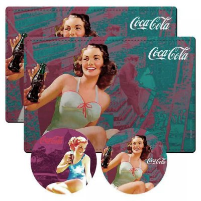 Jogo Americano Coca-Cola Pin-Up Girl