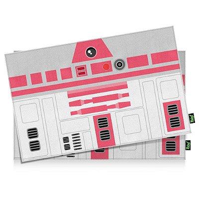 Jogo Americano Geek Side Faces R2 rosa - 2 peças