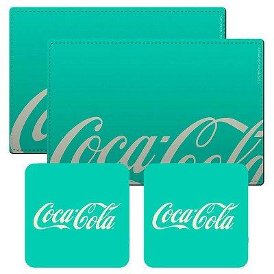 Jogo Americano Coca-Cola Retrô green - 4 peças