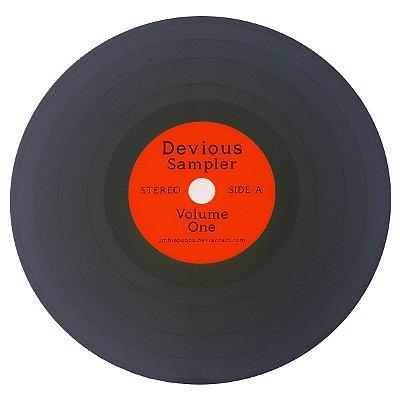 Jogo Americano Disco de Vinil Devious Sampler - vermelho