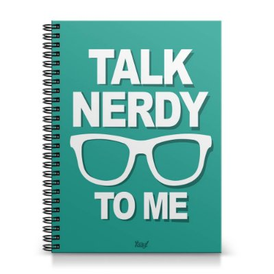 Caderno Universitário Capa Dura 1x1 - Talk Nerdy to me